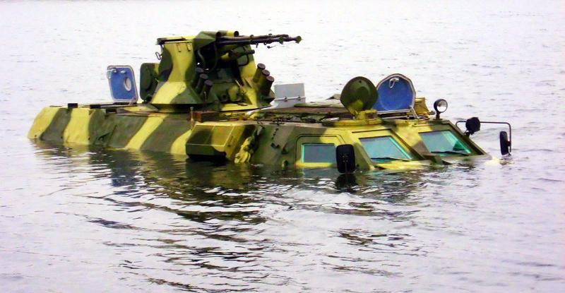 водных преград на БТР-80